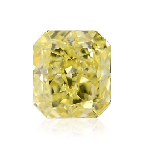 Leibish & Co 1.11 Carat Fancy Intense Yellow Loose Diamond Natural Color Radiant Cut GIA Cert