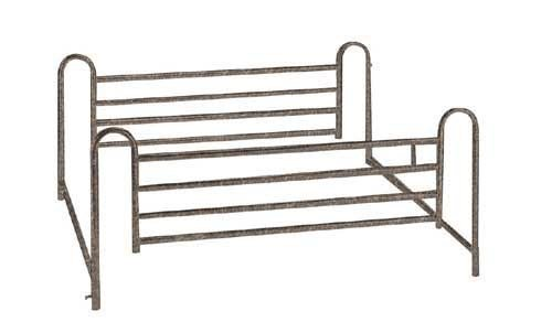 Full Length Hospital Bed Rails With 4-Bars (pair) by Zenith Medical Supplies