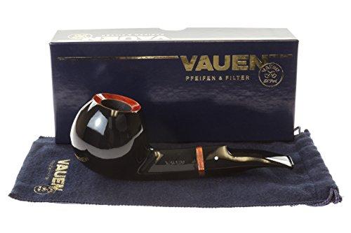 Vauen Fuego F132 Tobacco Pipe - Black Smooth by Vauen