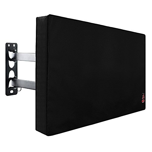 Lcd Protector Universal Screen (Outdoor TV Cover 50'' - 55'' with Scratch Resistant Liner, New Design Bottom Seal, Weatherproof Universal Protector for LCD, LED, Plasma Television Sets, Built In Remote Controller Storage Pocket)