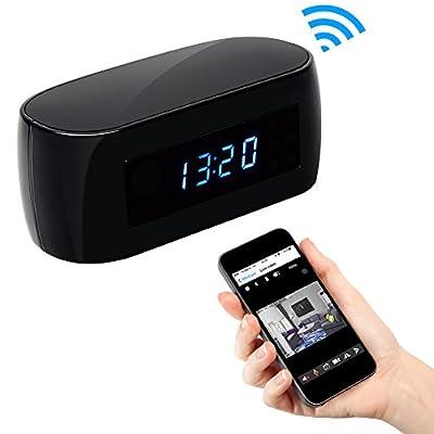 CAMXSW 1080P Wifi Pinhole Hidden Alarm Clock Camera Night Vision Clock Spy Camera / Nanny Cam / Home Security Camera Support Android IOS Smartphone Remote Control WIfi Live View from CAMXSW
