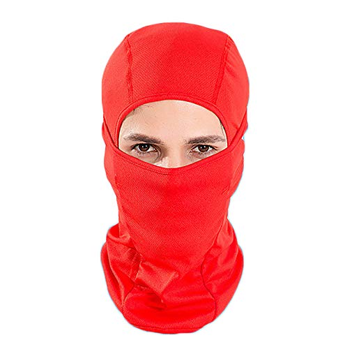 June Sports Balaclava Windproof Ski Face Mask Winter Motorcycle Neck Warmer Tactical Balaclava Hood for Women Men Youth Snowboard Cycling Hat Outdoors Helmet Liner Mask MK2 Red