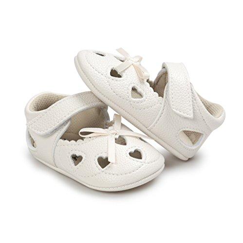 Zapatos de bebé,Auxma Zapatos del resorte del verano de los bebés princesa zapatos del bowknot para 6-18 meses Beige