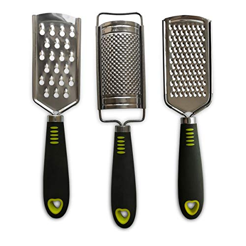 ALLTOP Cheese Grater, Hand-held Stainless Steel Zester for Kitchen - Multi-purpose Kitchenware,Set of 3 Grinders