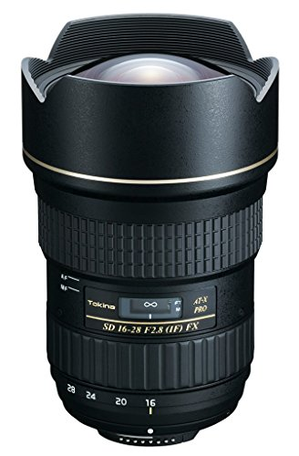 Tokina AT-X Pro FX 16-28 mm / f2.8 Wide-Angle Zoom Lens for Nikon with 2.8 Lens Speed Including Lens Hood