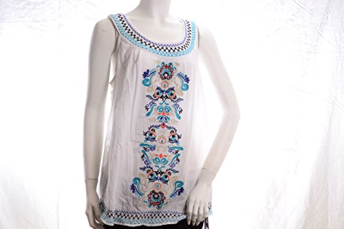 Greendog Top Tank (Style & Co. Embroidered Peasant Tank Top S)