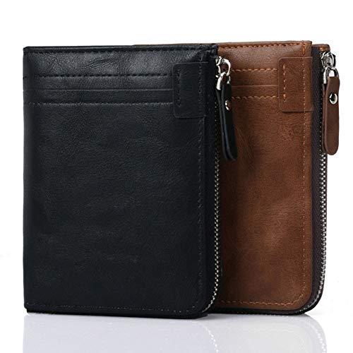 In Carte Con Per Materiale Qiy Custodia Blocco Porta Uomo Plastica Cerniera Black Portafoglio Pu Rfid black Di Uomo XEEq7U