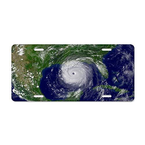 - MilitaryAutoTag Hurricane Katrina Decorative Novelty Custom Front License Plate Cover Car Tag Decorative for US Vehicles 12 x 6 Inch
