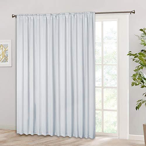 RYB HOME Room Darkening Insulated Curtain, Rod Pocket & Back Tab Top, Heavy Duty Solid Dape Balance Winter Cold & Summer Hot for Patio Door/Large Window/Closet, 100