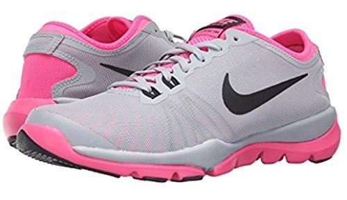 Nike Flex Supreme Tr4 Wolf Grijs / Roze Blast / Wit / Zwart Dames Cross Training Schoenen