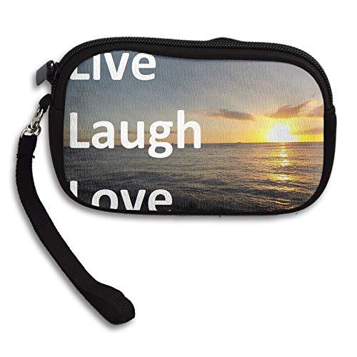 HACVREQ Unisex Personalized Wallet,Live-Love-Laugh Purse Bag Woman Ladies Men Gentlemen by HACVREQ