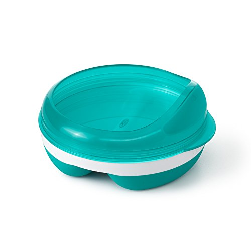 (OXO Tot Divided Feeding Dish with Removable Ring, Teal)
