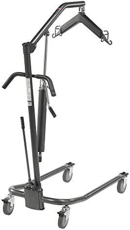 Drive Medical Hydraulic Patient Lift | Six Point Cradle, 5-Inch Casters | Silver Vein 415jpVyt2NL