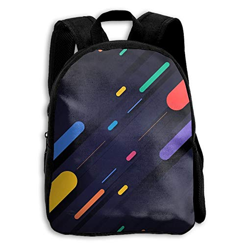 Leather 5800 (Shapes Colorful Multicolor Dark Outdoor Shoulders Bag Fabric Backpack Multipurpose Daypacks For Kids)