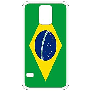 Brazil Flag White Samsung Galaxy S5 Cell Phone Case - Cover