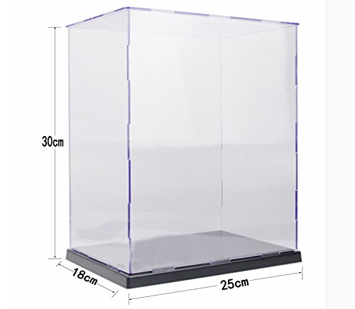 KENGEL 10x7x12 Inch Assembly Transparent Clear Acrylic Toys Display Dustproof Protection Showcase Case ()
