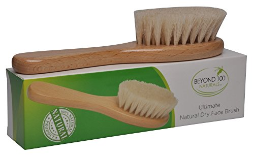 Best Dry Skin Face Brush with Natural Bristles to Exfoliate and Detox for Healthy & Beautiful Skin - Improve Circulation - Perfect Gift - Buy Now