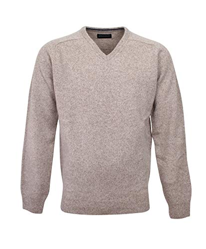 Beige amp; 100 Homme V Normal 194605 Pull Col Fit Lambswool Bots vqdZOwv