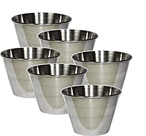 Individual Flan Molds Set of 6. Stainless Steel 2 3/4 x 2
