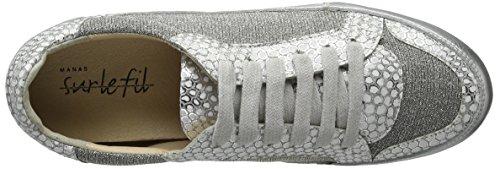 Manas Damen Delfi High-top Silber (argento+argento+argento)