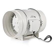 """Hon&Guan 8"""" Inline Duct Fan Exhaust Fan Extractor Fan Ventilation Fan Hydroponic Air Blower Fan Bathroom Fan Ventilation System Powerful & Quiet Fan 495 CFM (200 mm Diameter)"""
