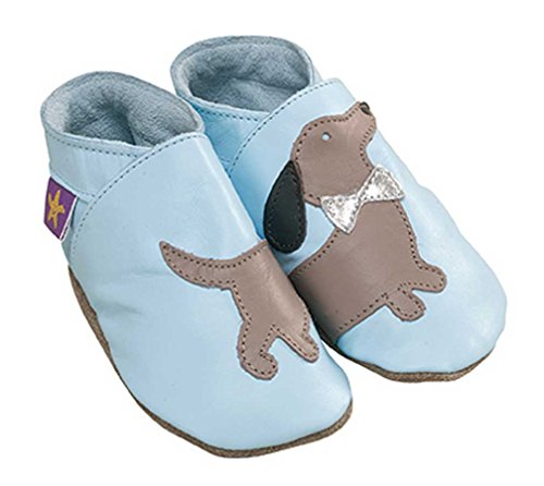 Macio 22 12 Azul Eu tamanho Bebê De Couro Sapatos Daxie Uk 18 Bebê 5 Meses Starchild YqOnz