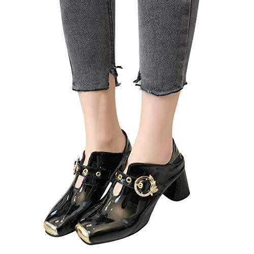 bout hauts Sandales à talons à noires Chaussures femmes , antidérapantes Zyueer Chaussures Mode carrées féminine carré pour pxwqdntdfv