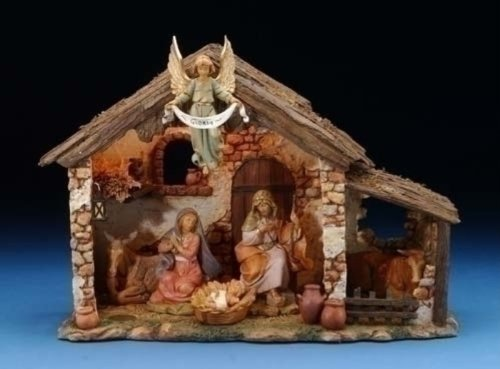 5 Inch Lighted FONTANINI Nativity Stable Only 50567 by Fontanini