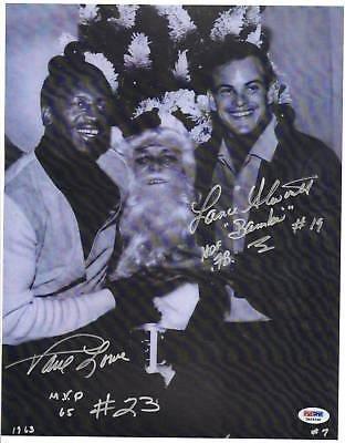 Autographed Paul Lowe Photo - Lance Alworth AFL 11x14 - PSA/DNA Certified - Autographed NFL Photos