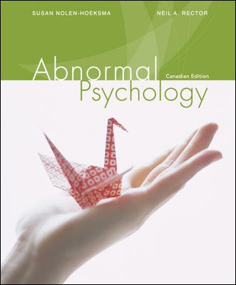 ABNORMAL PSYCHOLOGY >CANADIAN<