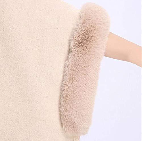 Manica Rot Cappotto Casuale Outerwear Moda In Lunghi Cappuccio Capa Con Invernali Di Eleganti Termico Baggy Calda Grazioso Stola Poncho Pipistrello Donna Pelliccia 1P8wf8q