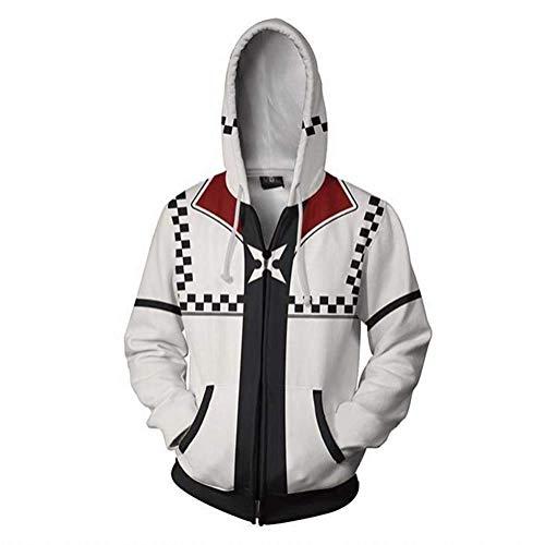 Mikucos Kingdom Hearts Jacket Coat Hooded Hoodie Swater Costume Cosplay Roxas L -