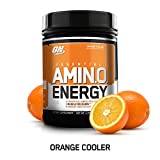 OPTIMUM NUTRITION ESSENTIAL AMINO ENERGY, Orange Cooler, Keto Friendly Preworkout and Essential Amino Acids with Green Tea and Green Coffee Extract, 65 Servings