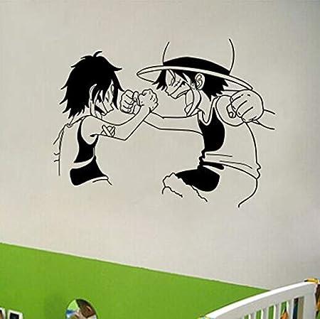 asd137588 Cartoon One Piece Etiqueta De La Pared Luffy Japonés De ...