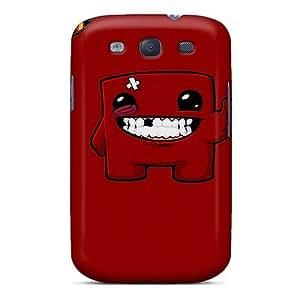 Galaxy S3 Super Meat Boy Print High Quality Tpu Gel Frame Case Cover