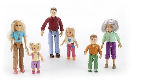 Fisher Price Loving Family Figures:Grandma, Brother, Mom, Dad, Toddler & Sister