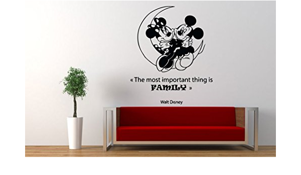 Mickey Mouse Bedtime Quote Vinyl Wall Art Sticker