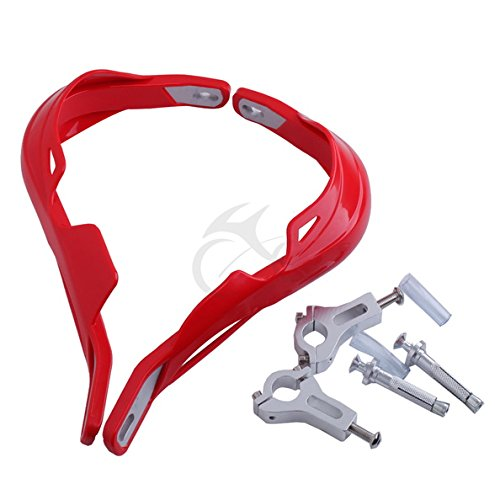 TCMT Red 7/8'' 22mm Handlebar Hand Brush Guard Handguards For Honda CR125R CR250R 1992-2007 by TCMT