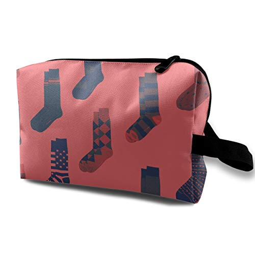 Socks Picture Cosmetic Bags Makeup Organizer Bag Pouch Zipper Purse Handbag Clutch Bag