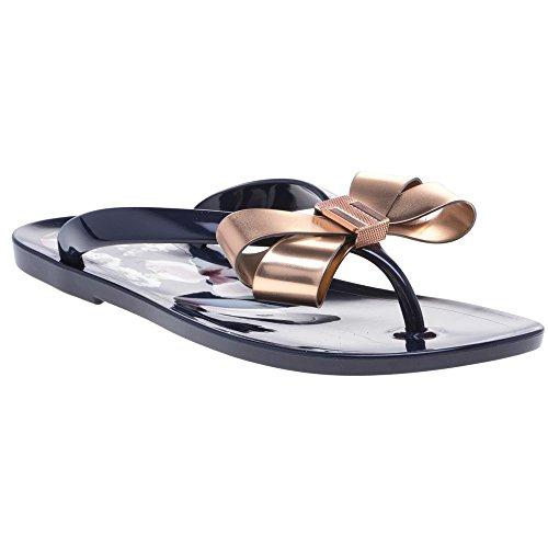 Ted Baker Izydor Womens Flip Flops Navy Floral - 5 -