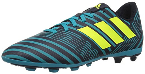 adidas Boys' Nemeziz 17.4 Fxg J Soccer Shoe, Legend Ink/Solar Yellow/Energy Blue, 4.5 Medium US Little Kid