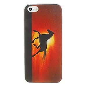 Runing Horse caso del patrón de la PC dura para el iPhone 5/5S