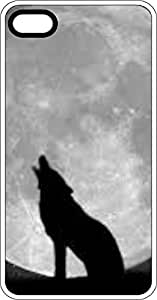 Wolf Howling AT Moon White Plastic Case for Apple iPhone 5 or iPhone 5s by icecream design