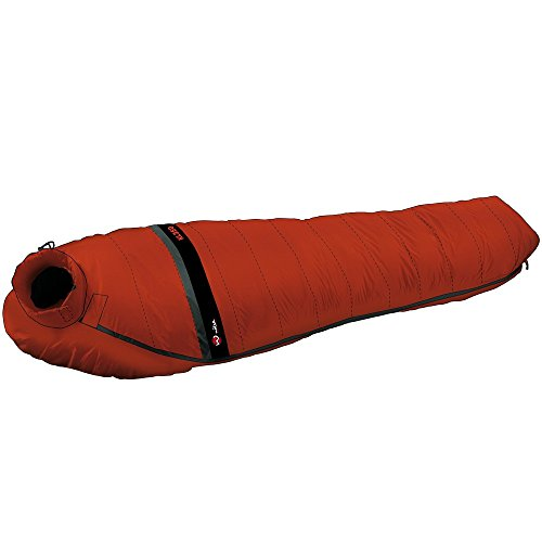 Wilsa Outdoor Sac de Couchage Duvet 3° Sarcophage 215x80 cm Rouge/Noir, KL 350 104031