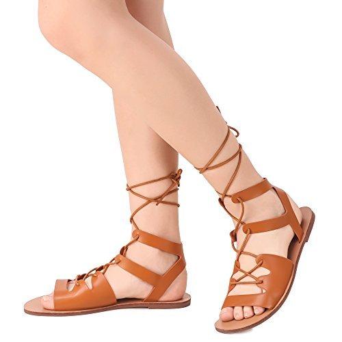 Buy brauch Women's Brown tie-up Flats