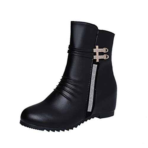 Colorful TM Women Fashion Sexy Zippers Boot Lady's Ankle Boots Comfortable Artificial Leather Boots Black wbWBy2R4