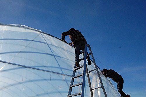 Greenhouse Clear Plastic Film Polyethylene Covering Gt4 Year 6 Mil 16ft. X 25ft. By Grower's Solution by Sunview (Image #2)