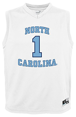 - NCAA by Outerstuff NCAA North Carolina Tar Heels Youth boys Chase Basketball Jersey, White, Youth Medium(10-12)