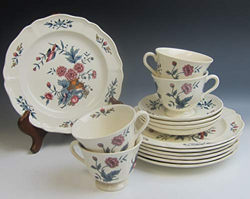 Lot of 15 Wedgwood China WILLIAMSBURG POTPOURRI Salad Plts Cps & Scrs - Wedgwood Potpourri