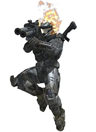 Halo Reach In-Game Flaming Helmet DLC Code: Computer and
